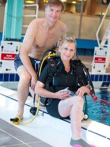 Подводное плавание помогло Сью найти новых друзей.