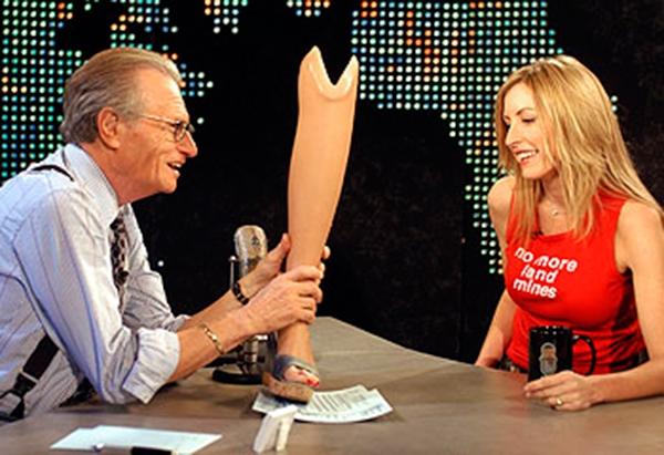 Хизер Миллз на американском шоу Larry King Live