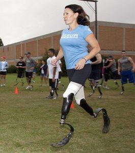 Джеми Голдман-Марсей, которая потеряла обе ноги, но не сдалась