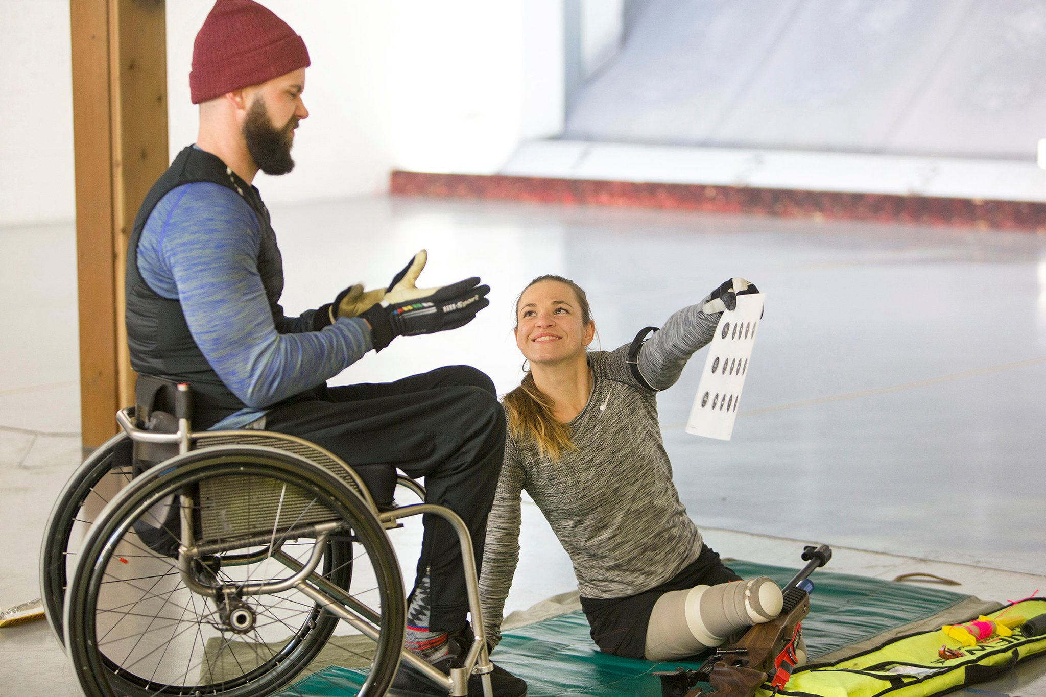 Masters and Aaron Pike, whom she met in Colorado at a Paralympic training camp. Credit Janie Osborne for The New York Times